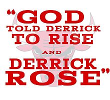 Derrick Rose Chicago Bulls NBA Photographic Print