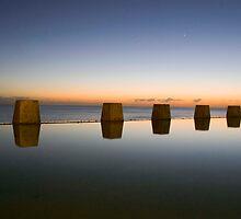 Coogee Beach Baths Sunrise by Bradley Ede