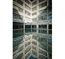Courtyard Reflection Photographic Print