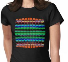The Grid II Womens Fitted T-Shirt