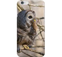 Barred Owl with Prey - Brighton, Ontario iPhone Case/Skin