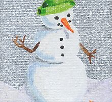 Snowman Friend by Amy-Elyse Neer