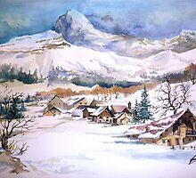 snow scene by albandizdari