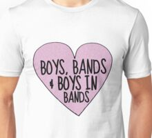 Boys in Bands (TUMBLR HEART EDITION!) Unisex T-Shirt
