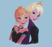 Frozen - Elsa & Anna by amvictoria