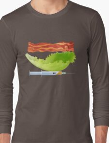 Bacon, Lettuce, and Testosterone Long Sleeve T-Shirt