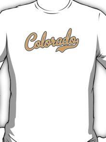 Colorado Script Font Gold T-Shirt
