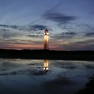 Lighthouse at twilight by gothgirl