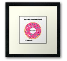 Doughnut Calorie Distribution Framed Print