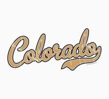Colorado Script Font VINTAGE Gold Kids Clothes
