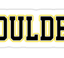 Boulder Jersey Script  Sticker