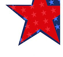 Patriotic Red and Blue American Stars Photographic Print