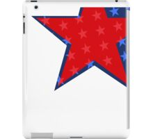 Patriotic Red and Blue American Stars iPad Case/Skin
