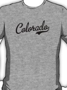 Colorado Script Black T-Shirt