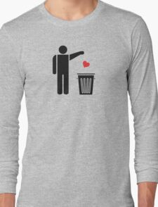 Throw Away Your Valentine's Day Heart Long Sleeve T-Shirt
