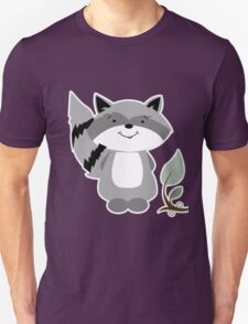 Enchanted Forest Raccoon Cartoon Animal Unisex T-Shirt