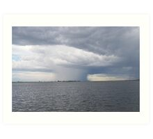 Storm Front in Chobe National Reserve Art Print