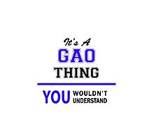 It's a GAO thing, you wouldn't understand !! by yourname