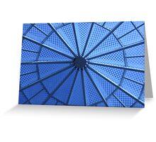 Blue Atrium Greeting Card