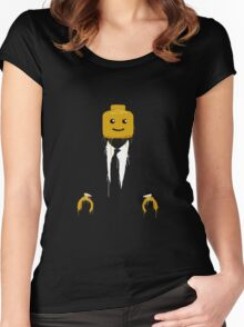 Lego man cool Women's Fitted Scoop T-Shirt