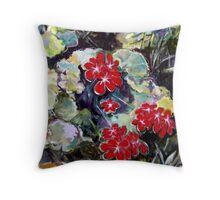 Geraniums Throw Pillow