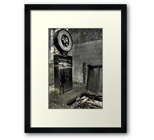 Weigh Time Framed Print