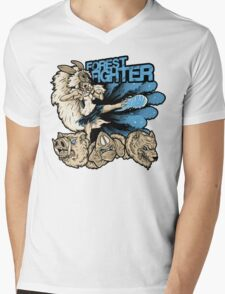 Forest Fighter Mens V-Neck T-Shirt