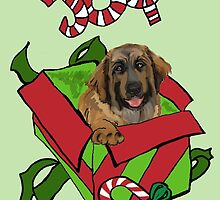 Leonberger Christmas by IowaArtist