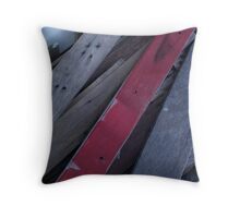 Red Plank Throw Pillow