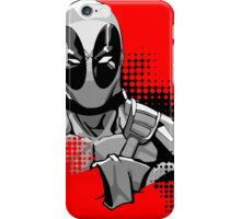 deadpool in black and white iPhone Case/Skin