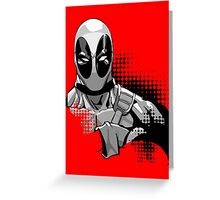 deadpool in black and white Greeting Card