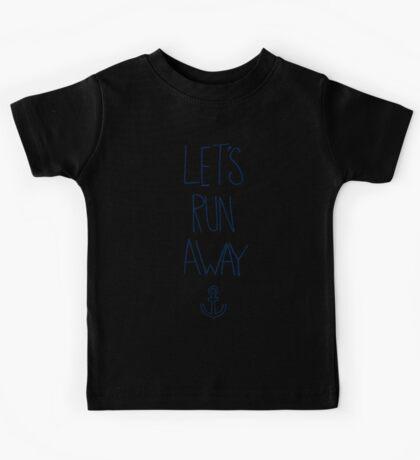 Let's Run Away: Ocean Kids Tee