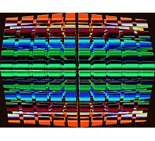 The Multi Colored Grid! Photographic Print