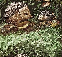 "Exclusive: "" Hérissons-Hedgehogs "" / My Creations Artistic Sculpture Relief fact Main 38  (c)(h) by Olao-Olavia / Okaio Créations by okaio caillaud olivier"