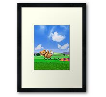 Teddy's Big Day Out - Vertica Framed Print
