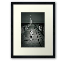 Lonely Jetty Framed Print
