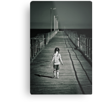 Lonely Jetty Metal Print