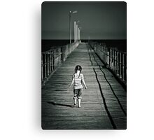 Lonely Jetty Canvas Print