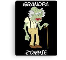 Grandpa Zombie Canvas Print