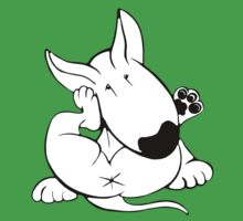 English Bull Terrier Itchy Head One Piece - Short Sleeve