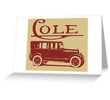 AERO EIGHT TOUROSINE-1921 Greeting Card