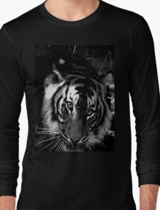 tiger black and white Long Sleeve T-Shirt