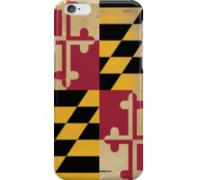 Maryland State Flag VINTAGE iPhone Case/Skin