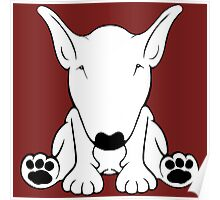 English Bull Terrier Forward Sit 2 Poster