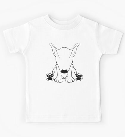 English Bull Terrier Forward Sit 2 Kids Tee