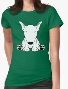 English Bull Terrier Forward Sit 2 Womens Fitted T-Shirt