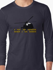 Sober Helicopter Dude Long Sleeve T-Shirt