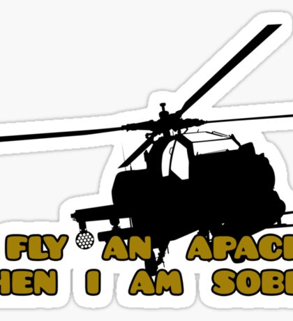 Sober Helicopter Dude Sticker
