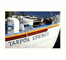 """Tarpon Springs Florida, Boats"" Art Print"