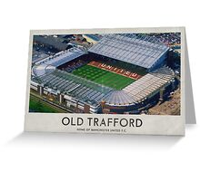 Vintage Football Grounds - Old Trafford (Manchester United FC) Greeting Card